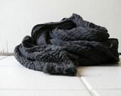 WOOL SHAWL / SCARF / stripes / texture / italian wool / handmade / made in australia / pamelatang