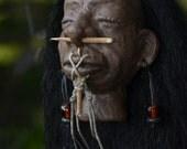 Shrunken Head, Hand Sculpted, Mere Immortal, One of a Kind