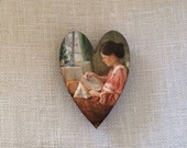 A stitcher's heart needleminder magnetic needle minder to hold your needles while stitching