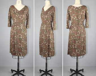 1960s / wiggle dress / paisley / CAFE WEST vintage dress