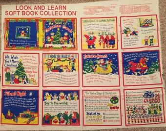 Vintage Princess Fabric My BOOK of CHRISTMAS CAROLS Carol Song Soft Book Collection