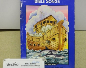 Wee Sing Bible Song Book and Sing Along Cassette