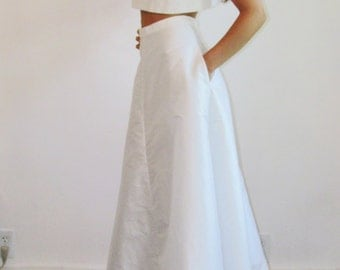 NEW A-line Silk Shantung Skirt - Long