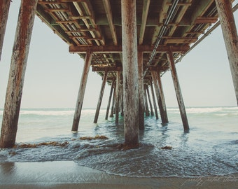Fine Art Print, Pier Photo, San Diego Art, California Art, Beach Art, Imperial Beach, Ocean Print, Coastal Decor, Sea, Resort Art, Pier Art