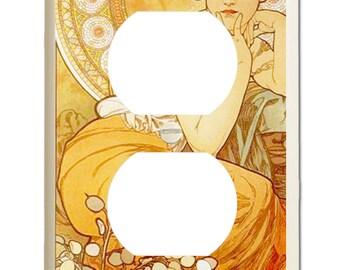 "Alphonse Mucha ""Topaz"" Art Nouveau - Outlet Plate"