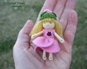 Waldorf Bendy Doll,  Waldorf Doll, Rose Doll, Tiny Doll,  Nature Table, Doll House Doll, Waldorf Gift