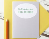 Giant Hugs From Your Tiny Human Card. First Father's Day Card. New Baby Card.