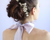 Bridal hair comb - Gilded floral comb pair - Style 618 - Ready to Ship