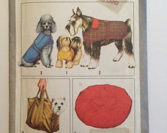 Dog Coat,  Bag and Bed Accessory Pattern Vintage Simplicity 8802