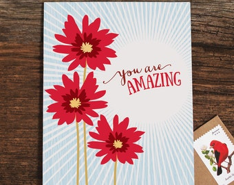 just because card / you are amazing
