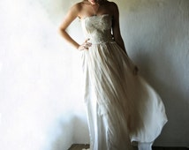 Bohemian Wedding dress, Fairy Wedding dress, Gypsy wedding dress, Beach wedding dress, Boho wedding dress, Hippie wedding dress, Pagan dress