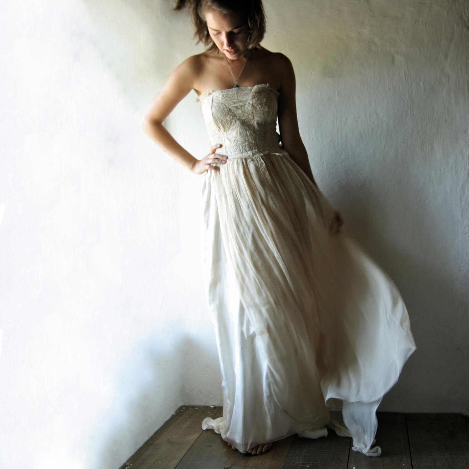 Bohemian Wedding Dress: Bohemian Wedding Dress Fairy Wedding Dress Gypsy Wedding