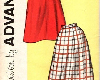Advance 9402 Four Gore Skirt VINTAGE Late 50s Early 60s