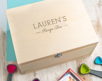 Personalized Wood Recipe Box