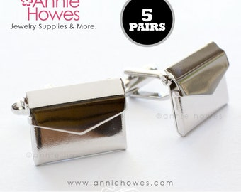 Envelope CUFF LINKS for the wedding party, groom, father of the bride, graduate, new dad, anniversary gift. 5 Pairs.