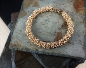 Bronze Chainmaille Bracelet - Turkish Roundmaille - Ready to Ship - 10% loaned through Kiva.org