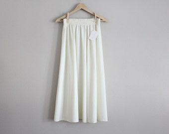 white ankle skirt | high waist white skirt | long white skirt