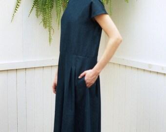 SALE Denim Jumpsuit Naomie. Fall Fashion. Loose Indigo Washed Jumpsuit. Wide Leg Jumpsuit. Pantsuit Party Palazzo Jumpsuit. Loose Jumpsuit