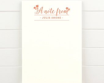 DELIGHT Personalized Notepad - Custom Letterhead Teacher Note