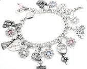 Girls Birthday Bracelet, Happy Birthday Gift, Girls Jewelry, Child's Charm Bracelet, Kids Jewelry, Girls Bracelet, Birthday Charms