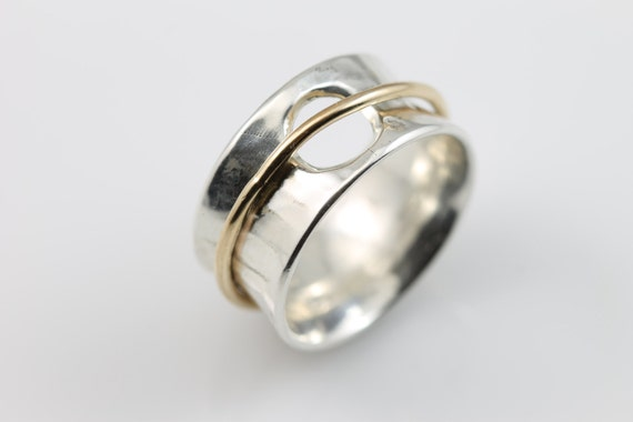 open circle meditation ring sterling silver ring sterling