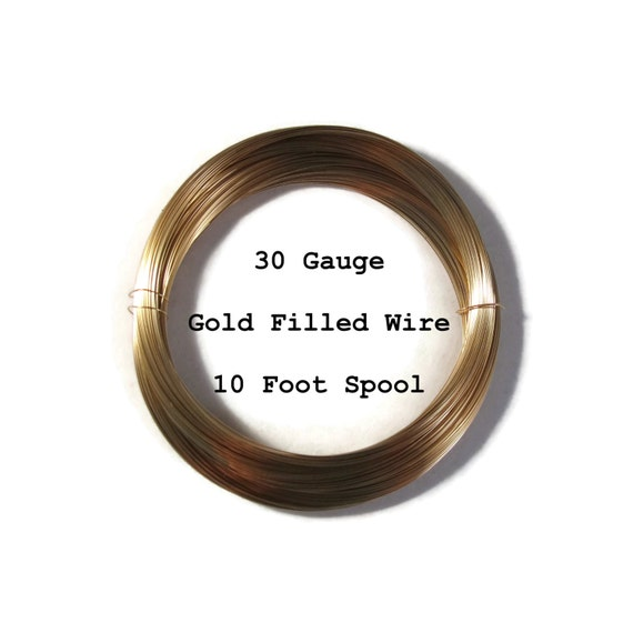 30 Gauge Wire, Ten Feet of 14/20 Gold Filled Wire, Thin Wire ...