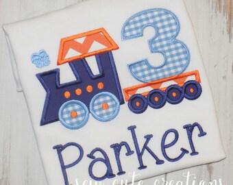 Train Birthday Shirt, Boy Train Shirt, first birthday, second birthday, Boy Birthday Shirt, Girl Birthday shirt. sew cute creations