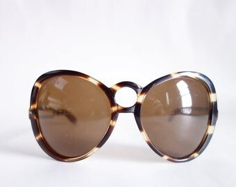 NOS Fab 1960s BIG SUNGLASSES Curved Women's Statement Sunglasses Bug Eye Frames Deadstock Unused Vintage Glasses Eyewear No Rx Third Eye S05