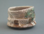RESERVED Guinomi, wood-fired iron rich stoneware with crawling shino, oribe and natural ash glazes