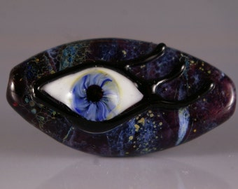 Lampwork Glass Focal Bead. Eye beads
