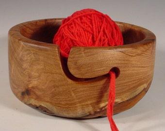 Texas Mesquite Yarn Bowl Turned Wooden Bowl Art Number 6110 by Bryan Tyler Nelson