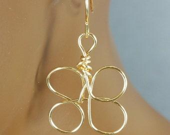 Gold circle earrings 1.5 inch circle hoops Buy 2 get 3rd pair FREE 834