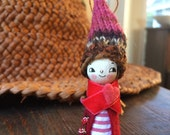 Loobylu Wintery Elf OOAK Ornament No.13