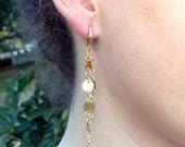 Gold Earrings Dangle, Gold Drop Earrings, Long Gold Earrings, Classic Earrings, Gold Earings dangle, Gold Earings, Long Gold Drop Earrings