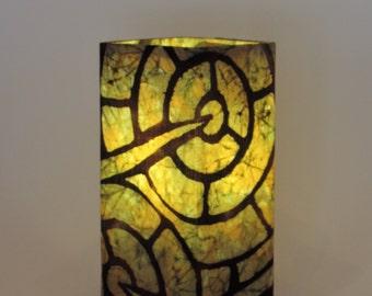 """Batik Lamp """"Sage Plants"""""""