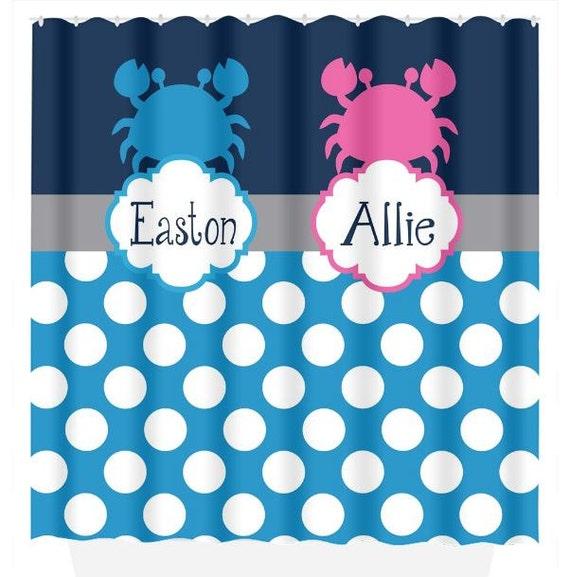 Crab Shower Curtain Hooks