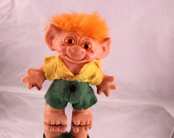 Vintage 1970's Era Yellow Haired Troll Doll Bank