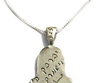 God Bless and Keep You Hamsa Protection Necklace