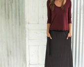 Mallory Top ~ Made to Order from Organic Cotton & Bamboo or Soy ~ Custom Sizes Welcome ~ Many Colors to Choose From ~ Simple flattering Top