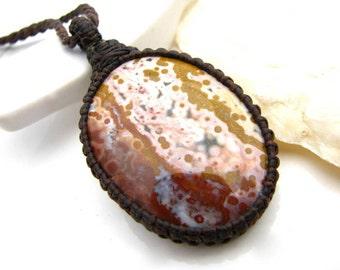 Ocean Jasper Necklace, Ocean Jasper pendant, Ocean Jasper, for Women, Gift for wife, Fall finds, Healing stones, Beach necklace