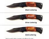 Groomsmen Gifts, Wedding, Engraved Pocket Knife, Small Honed Blade Lockback Pocket Knife Wood Handle, Wedding, Ring Bearer