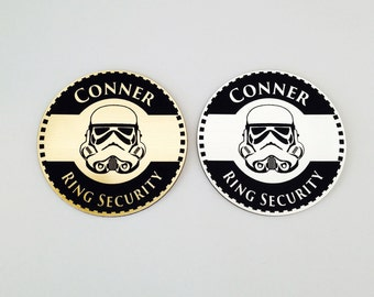 Ring Security, Ring Bearer Gift, Ring Bearer Security Badge, Personalized Ring Bearer Badge, Wedding Gift, 3 Designs