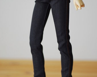 Black skinny stretchy jeans - Luts Delf girl SD BJD clothes