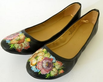 Custom Painted Leather Shoes - Painted Shoes - Made to Order