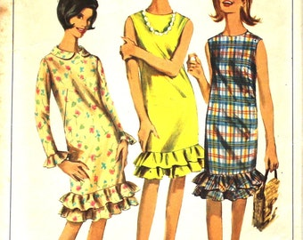 Dress with Double Ruffle Bust 34 Simplicity 6385