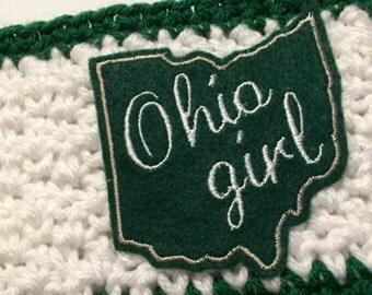 Women's // Crochet Headwrap // Headband // Earwarmer // Ohio Girl / Green // Handmade