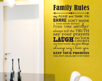 Family Rules - Wall Decal
