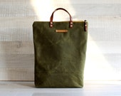 on sale!. WAXED CANVAS BAG, Comfort UNiSEX Tote, Olive Green Bag, men bag, women bag, Christmas gift, Xmas, for men, for him, Zip Tote Bag