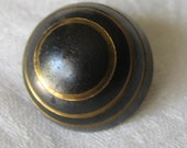 VINTAGE Dome Neillo Gold Ring & Black Metal Button
