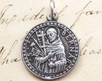 Bernard of Clairvaux - Patron of bees and beekeepers - Antique Reproduction